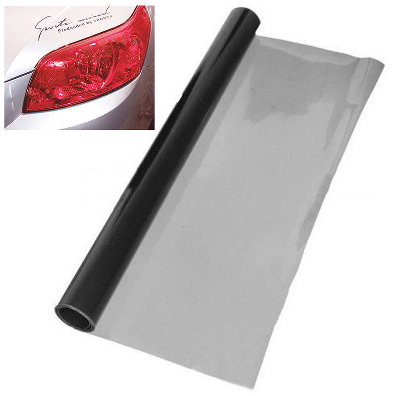 Image 2 - new 30*120cm Deep Grey Car Headlight Brake Tail Light Tint Vinyl Wrap Film Sheet for Headlights fog lights-in Car Stickers from Automobiles & Motorcycles