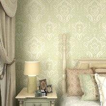 Classic Damask Wallpaper papel de parede 3d Sage for Living Room Home Decor
