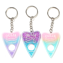 1PC Gradient color Ouija planchette resin charm keychain keyring board handbag charms for woman