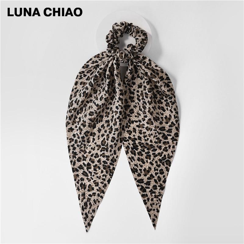 LUNA CHIAO Fashion Women Hair Accessories Hair Tie Ponytail Holder Fabric Hair Scarf Scrunchies