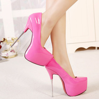 Plus Size 40 45 Newest Designer CDTS Red Bottom 16cm Thin Heels Platform Sexy Party Shoes