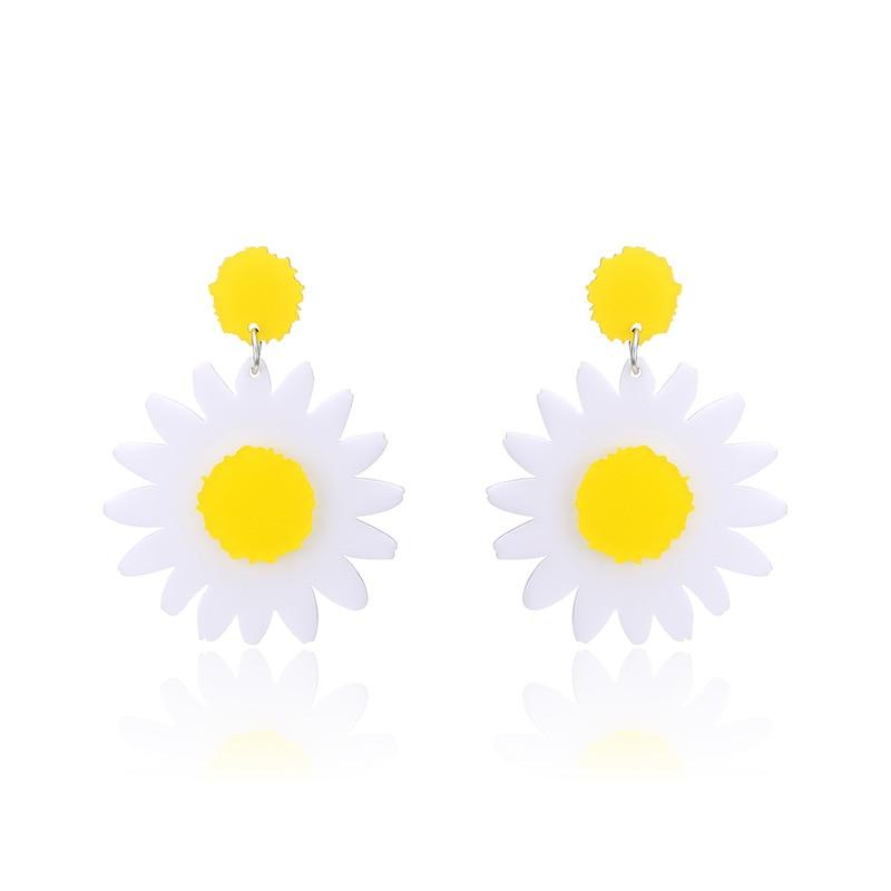 Daisies one pair daisy dangle earrings little white yellow flower daisies one pair daisy dangle earrings little white yellow flower earrings summer style earrings women fashion jewelry in drop earrings from jewelry mightylinksfo