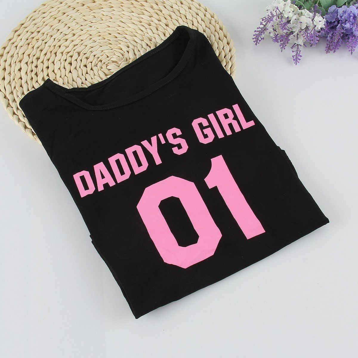 bdde504aa ... 2017 Family T-Shirts DADDY & DADDY'S GIRL Father & Daughter T shirt  Tops Family ...