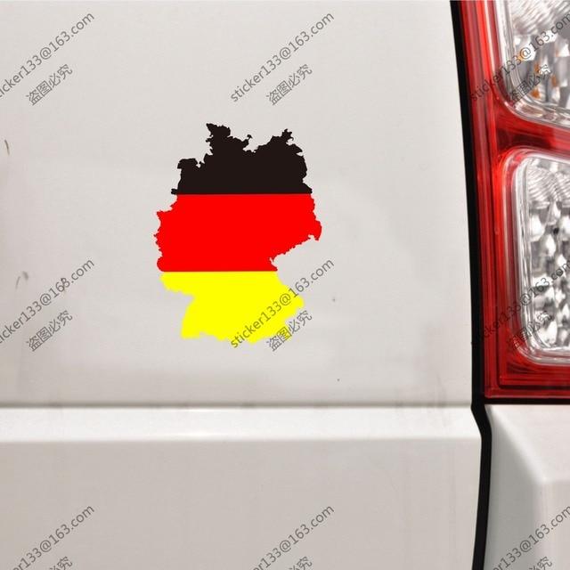 Flag of germany german map outline car trunk sticker decal vinyl die cutchoose your