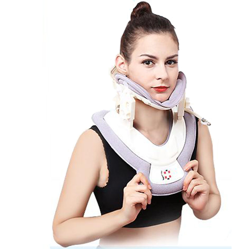 Cervical traction apparatus inflatable stretch the neck support fixed orthodontic neck cervical TuoHu household cervical traction apparatus with high quality household fixed cervical stretched neck massager massage pillow