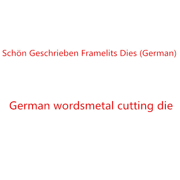 German word metal cutting dies DIY Die Cut Stencil Decorative Scrapbooking Craft Card stencils templateGerman word metal cutting dies DIY Die Cut Stencil Decorative Scrapbooking Craft Card stencils template