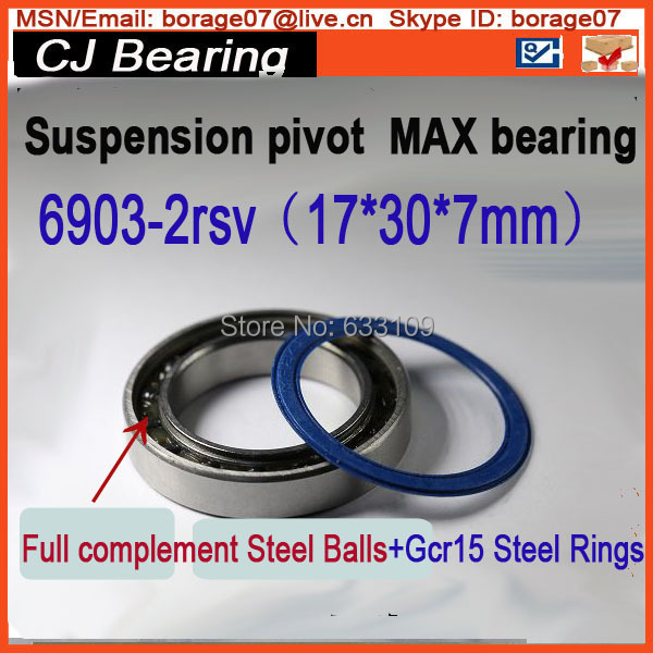 Bicycle suspension pivot bearing 61903 6903-2RS MAX(17x30x7 mm), 6903 full complement ball bearing(MAX bearing) bicycle suspension pivot point bearing 6900 2rs max 10 22 6 mm full complement