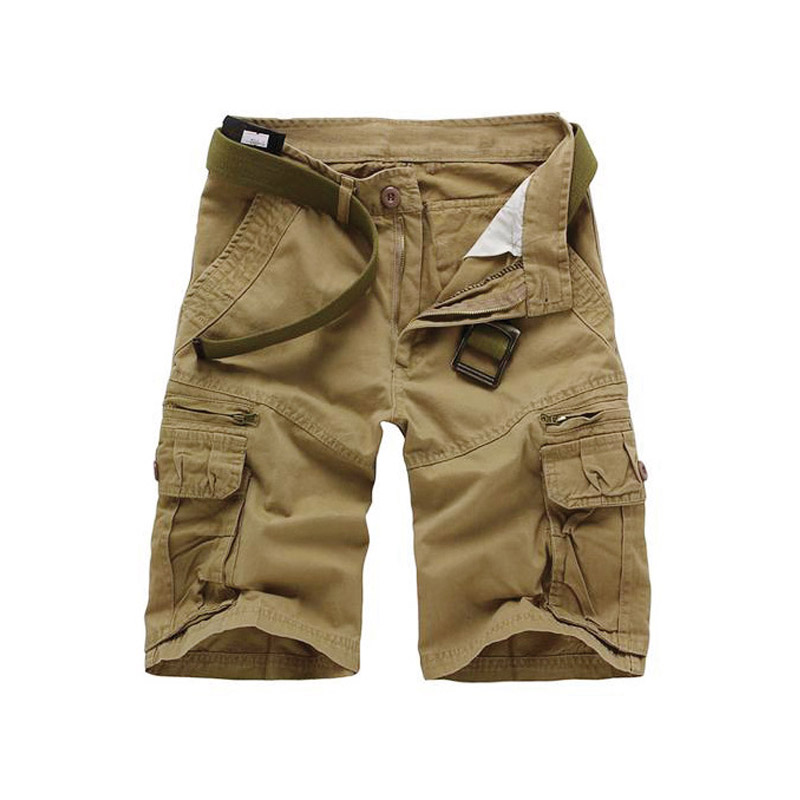 drop shipping new men casual camouflage loose cargo shorts multi-pocket military short trousers 5 colors 28-38 C038