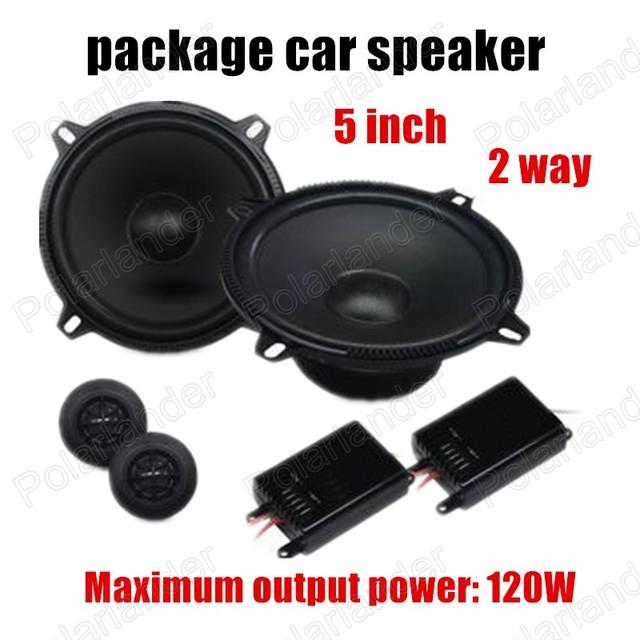 Envío gratuito super calidad 5 pulgadas paquete de altavoces de 2 vías 2x120 W coche de altavoces de audio estéreo para todos coches