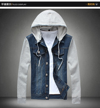 Mens denim jacket with hood online shopping-the world largest mens