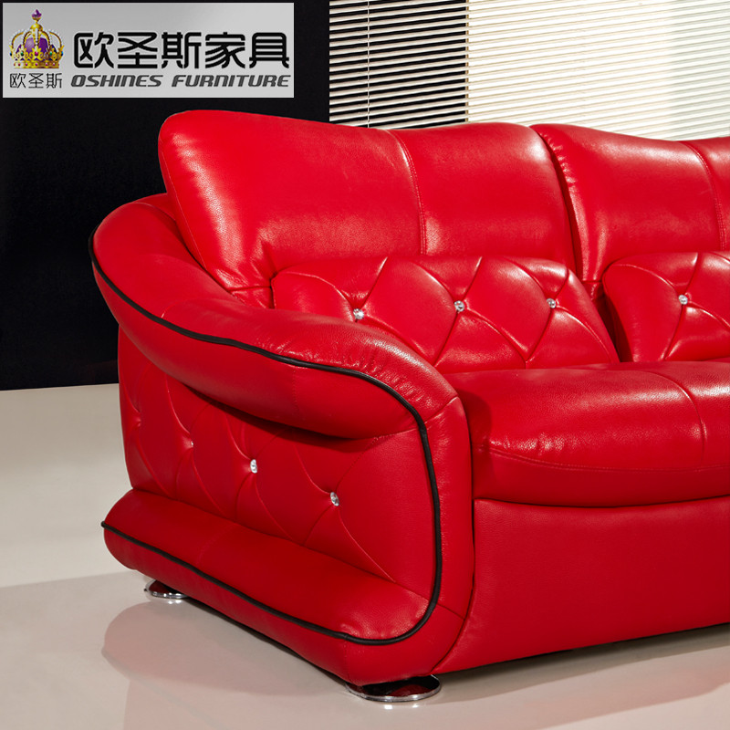 Latest Design New Wedding Modern Sectional Corner L Shape Sexy Hot Red  Leather Sofa Set, Red Genuine Leather Sofa Italian F39 In Living Room Sofas  From ...