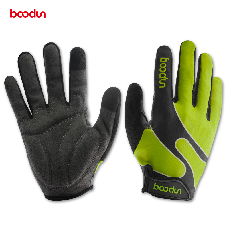 Boodun Bicycle Gloves Autumn Winter Full Finger Lycra Windproof Outdoor Sports Cycling Gloves Men Women Gloves Guantes Ciclismo racmmer cycling gloves guantes ciclismo non slip breathable mens