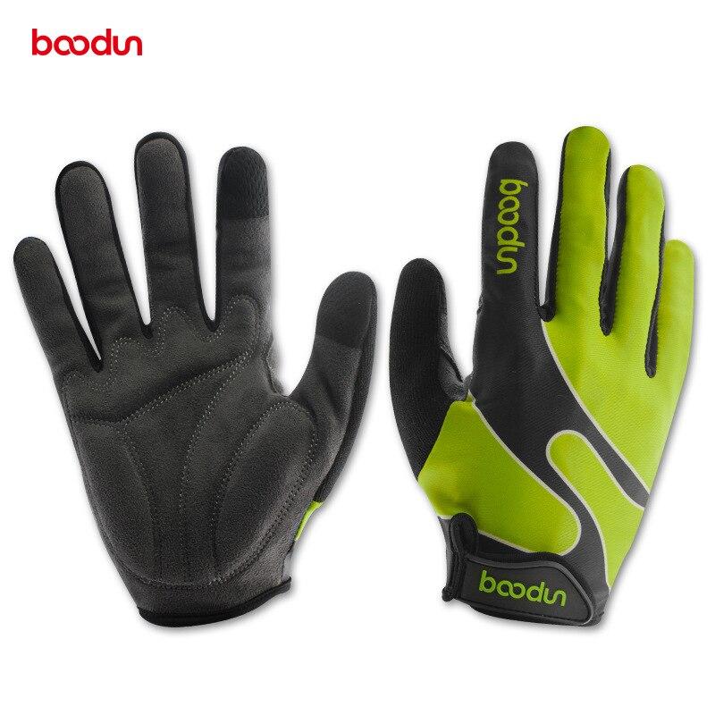 Boodun Bicycle Gloves Autumn Winter Full Finger Lycra Windproof Outdoor