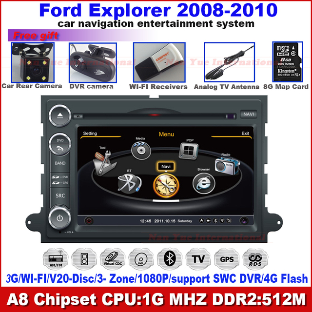 A8 3G WiFi Car DVD Headunit For FORD F150 MUSTANG EXPEDITION EXPLORER EDGE FUSION ESCAPE 500 FREESTYLE FOCUS MONTEGO MOUNTAINEER