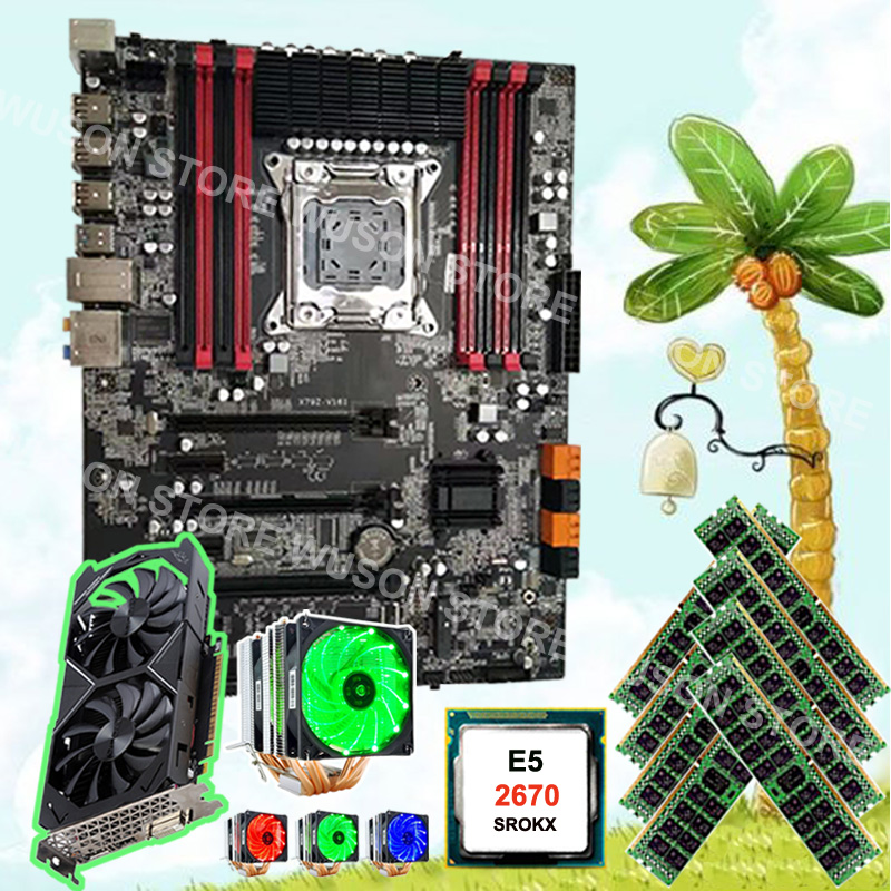 Recommend To Buy Motherboard Runing X79 Motherboard CPU Xeon 2670 C2 2.6GHz With Cooler 8*16G 1600 RECC Video Card GTX1050TI 4G