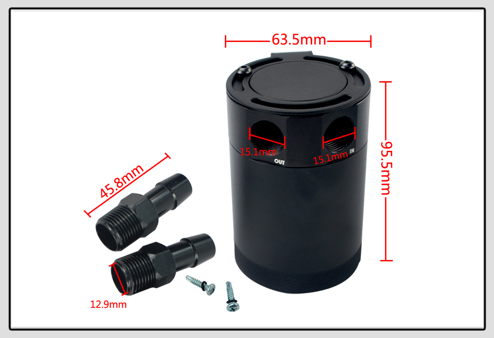 Compact 2 Port Oil Catch Can