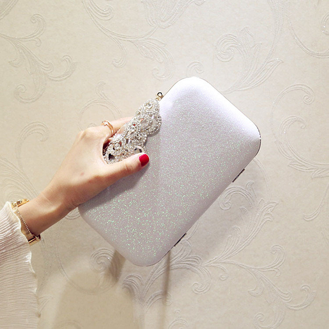 New fashion Sequined Scrub Clutch Women's Evening Bags Bling Day Clutches Gold Wedding Purse Female Handbag 6
