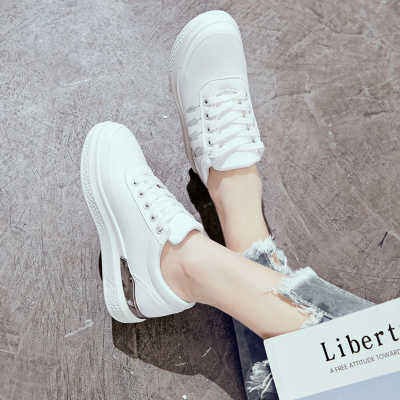 leder Casual Frauen Chaussures Weibliche Weiße Frau Plattform Sneaker 3 Pu Fashion Tenis 2 1 Damen Femme Schuhe Turnschuhe qRgnwxXB