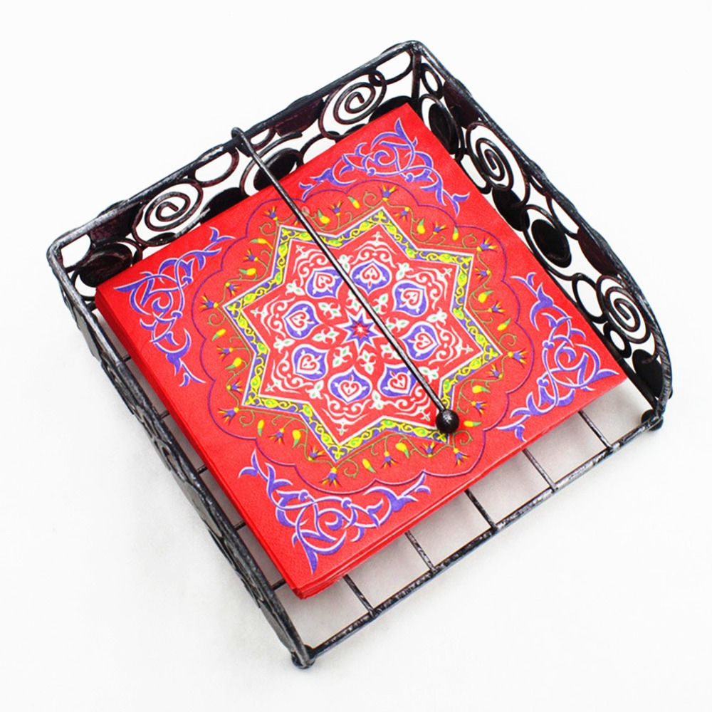 OurWarm EID Mubarak Decor Paper Napkin Disposable Table Cloth Cover Muslim Festival EID Al-Fitr Ramadan Decor Party Supplies