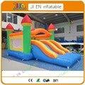 6*3.5 м Гигантский двойной слайд надувной замок прыжки вышибала moonwalk препятствий надувной замок