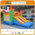 6*3.5 m Gigante doble tobogán inflable castillo inflable gorila moonwalk castillo inflable carrera de obstáculos