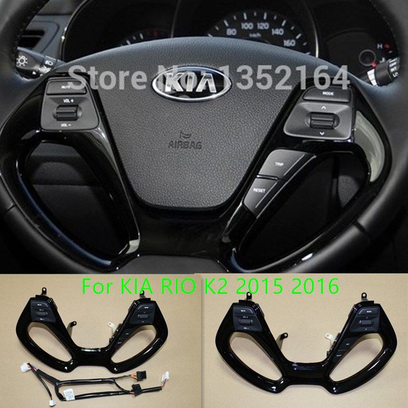 все цены на Original multifunctional steering wheel control button for KIA RIO K2 2015 2016 , Audio and channel control button