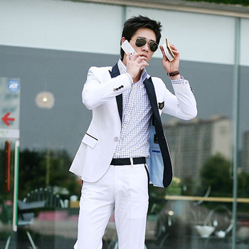 99 costume men's clothing formal  white suit stage clothes nz039  dress