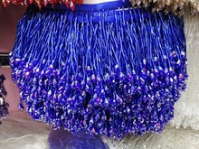 5.5 Yards 10cm Wide Lace Fringe Trim Tassel Fringe Trimming For DIY Latin Dress Stage Clothes Accessories Lace Ribbon недорого