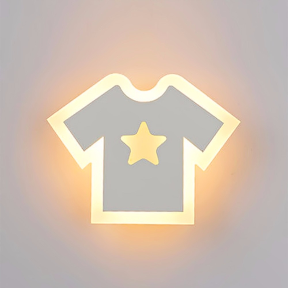 Creative Light LED T-shirt Dhape Wall Lamp Bedroom Bedside Light Living Room Balcony Aisle Wall Lamp Corridor Wall Sconce wall light 12w led wall lamp bedroom bedside living room hallway stairwell balcony aisle balcony lighting ac85 265v hz64