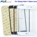 Nueva negro blanco frontal de vidrio de la lente cubierta para Samsung Galaxy Note nota 1 i9220 N7000 de calidad AAA libre adhesivo