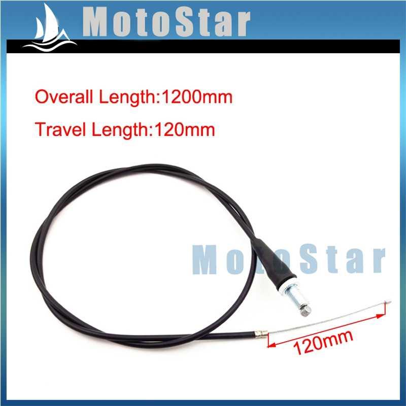 "47/"" Gas Throttle Cable For Pit Dirt Motor Trail Bike Mini Motocross CRF KLX SSR"