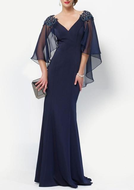 Sexy Abendkleider Mit Cape Wrap Jacke Lange Mutter der die Braut ...