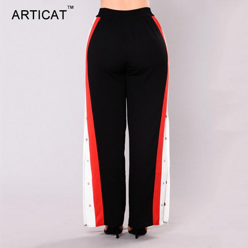 HTB1NzDuSXXXXXaoXXXXq6xXFXXXl - Wide Leg Pants Side Split Women Pants High PTC 153