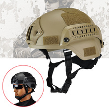 Safety First Aid Helmet Military Tactical Helmet Airsoft Gear Paintball Head Protector with Night Vision Sport Camera Mount