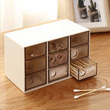 9 Slots 3 tiers Plastic makeup organizer jewelry storage box toys organizer Removable storage case Transparent suitcase