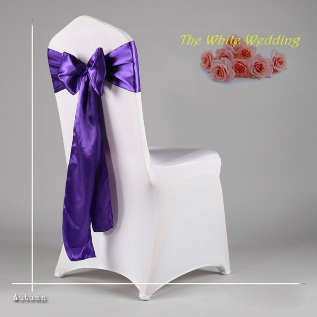Purple Chair Sashes For Weddings Cover Depot Voucher Code Free Shpping To Usa 100 Cheap Satin Sash Wedding