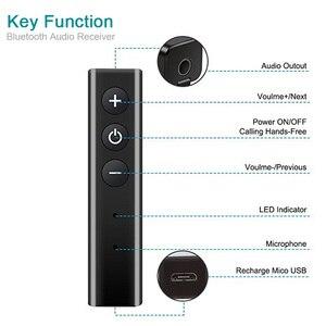 Image 2 - Bluetooth מקלט אודיו 4.1 סטריאו דיבורית לרכב משדר אלחוטי מתאם A2DP AUX 3.5mm מוסיקה מקלטים עבור אוזניות