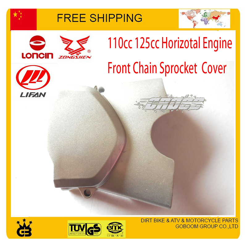 zongshen loncin <font><b>lifan</b></font> <font><b>110cc</b></font> 125cc left <font><b>engine</b></font> cover chain front sprocket cover dirt pit monkey bike ATV QUAD free shipping image