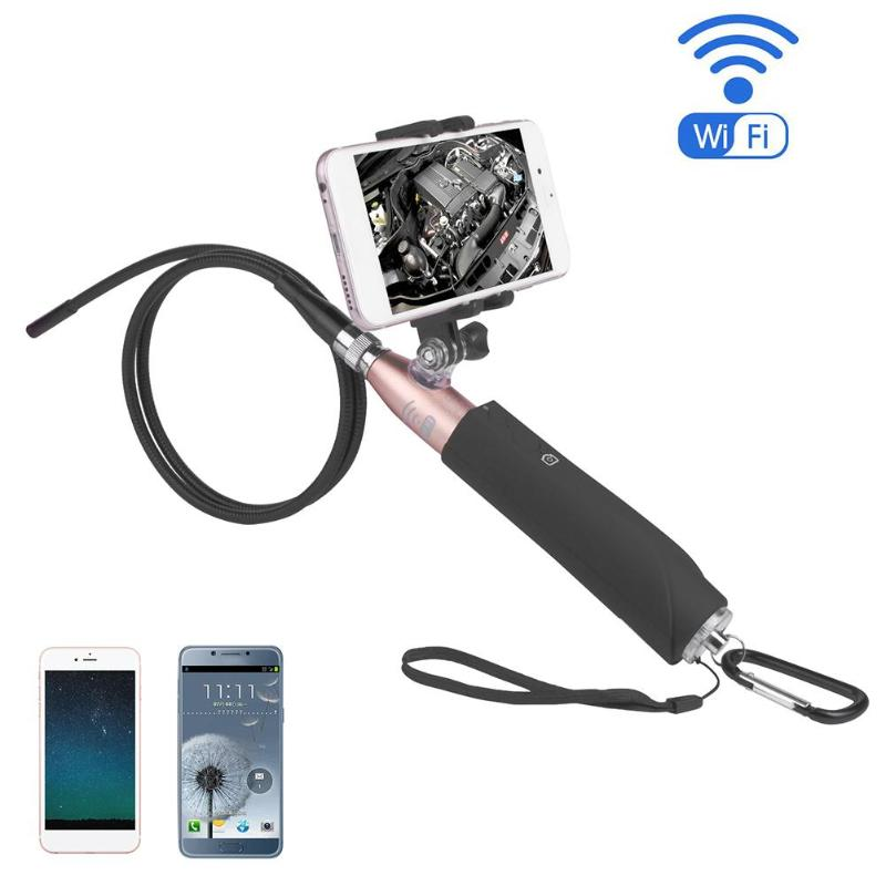 1Pcs Handheld IP67 Waterproof Wifi 8mm Lens 2MP 720P Endoscope Inspection Camera Video Inspection for Android/iOS/Windows/Phone ...