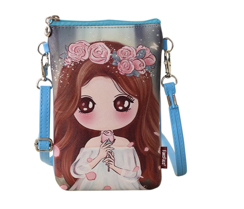 Girls Women Mini Shoulder Crossbody Bag Cellphone Holder Pouch Purse Bag  Smartphone Wristlet Wallet Purse Cute Cartoon Bag Gift-in Shoulder Bags  from ... 7a56a3cf4ab7d