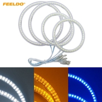 FEELDO 2X80mm 2X110mm Car LED Halo Rings Angel Eyes DRL Head Lamp For Hyundai Tiburon(00 01) #HQ1526