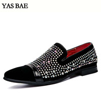 Yas Bae Casual Brand Rock Black Male Sequins High Top Studded Hightop Footwear Street Style Tenis