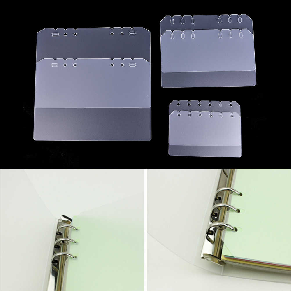A5 A6 A7 PP Frosted Planner's Inner Pages Spacer Plate Diario Binder Planner Concise Filler Paper PP Separator Board Page
