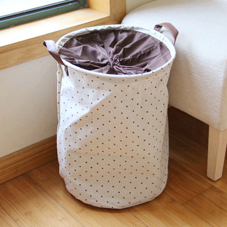 Round Dobby Organizer Box Ikea Home Storage Bag Zakka Laundry Basket  Novelty Households Basket For Toys