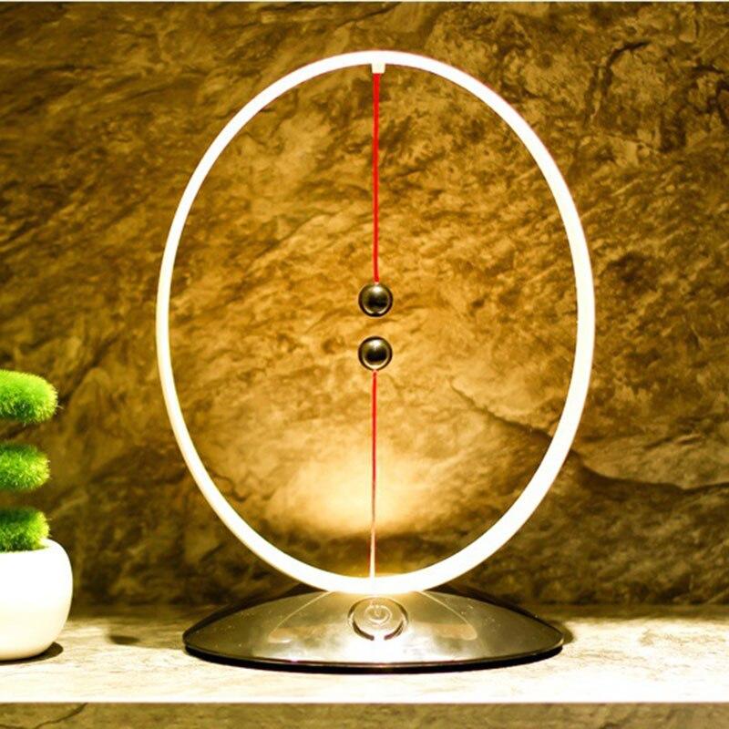 2019 Hot Magnetic Suspension Balance Lamp USB Charging LED Simple Smart Night Light AI88 (Yellow)