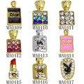 10Pcs/lot Glitter Women Purfume Bottle Shape 3D Nail Charm Gem Stone Rhinestone Alloy Nail Art Decorations Nail Jewelry Supplies