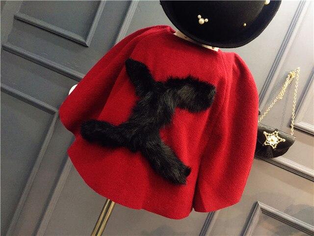 Wenzhou Children's Clothing Manufacturers Selling 2017 Winter New Girls Korean Fashion Woolen Cloak Coat
