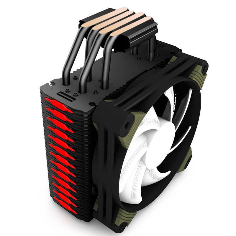 Aigo ICY K4 CPU kühler TDP 300 W 4 heatpipes 4pin PWM RGB 120mm lüfter Kühler für LGA 2011 /1151/1155/1156/775/1366/AM2 +/AM3 +/AM4