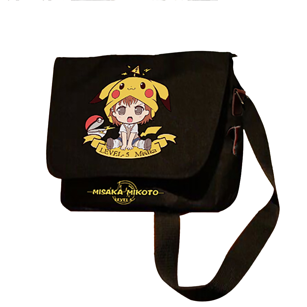 Toaru Kagaku No Railgun Shoulder Bag Misaka Mikoto Sister Gun Aslant Bags Shopping Travel Luminous