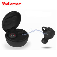 Volemer Mini Twins Wireless Earbuds Double Ear Bluetooth Headphone Earphones In Ear Stereo TWS With Charging